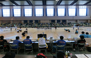 playing view(Goalball All Japan Championships)