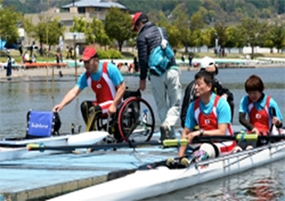 (Left) Men's Single Sculls: Lower Limb (Wheelchair)